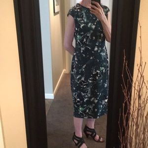 Maggie London Floral Cap Sleeve Dress